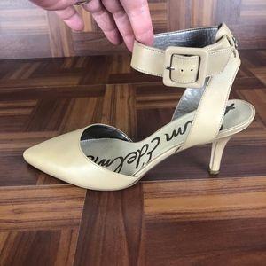 SAM EDELMAN OKALA Leather Heeled Dress Pumps